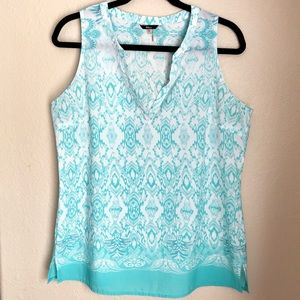 Milano Patterned Teal Blouse